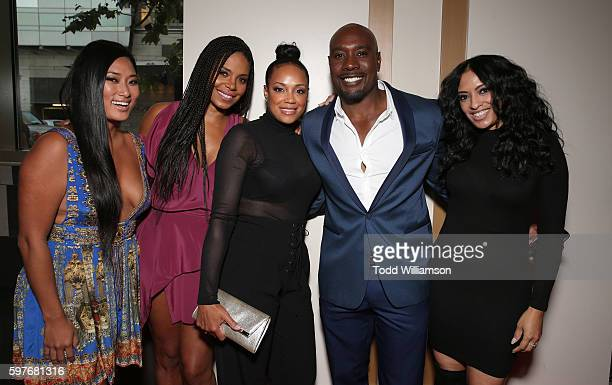 Chloe Flower Sanaa Lathan Pam Byse Morris Chestnut and Melissa De Sousa attend the Premiere Of Sony Pictures Releasing's When The Bough Breaks at...