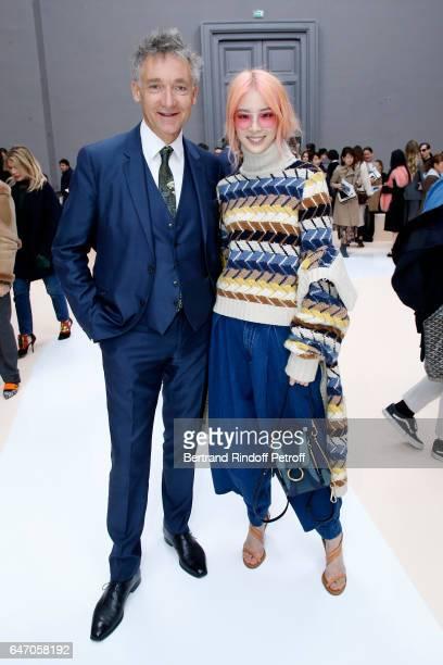 CEO Chloe Geoffroy de la Bourdonnaye and Irene Kim attend the Chloe show as part of the Paris Fashion Week Womenswear Fall/Winter 2017/2018 on March...