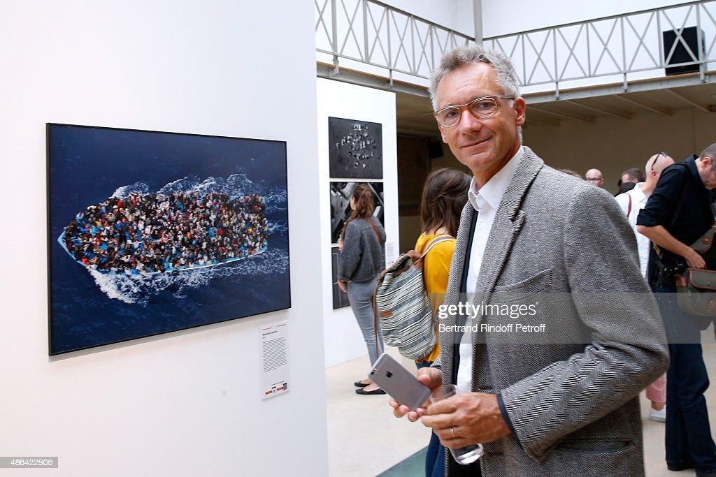 Chloe Geoffroy de La Bourdonnaye attends the 'World Press Photo 2015' Exhibition Opening Party, held at Galerie Azzedine Alaïa on September 3, 2015 in Paris, France.
