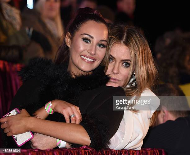 Chloe Goodman and Patsy Kensit attend the final of Celebrity Big Brother at Elstree Studios on February 6 2015 in Borehamwood England