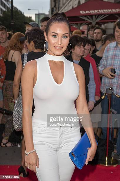 Chloe Goodman arrives for The Bodyguard opening night at Dominion Theatre on July 21, 2016 in London, England.