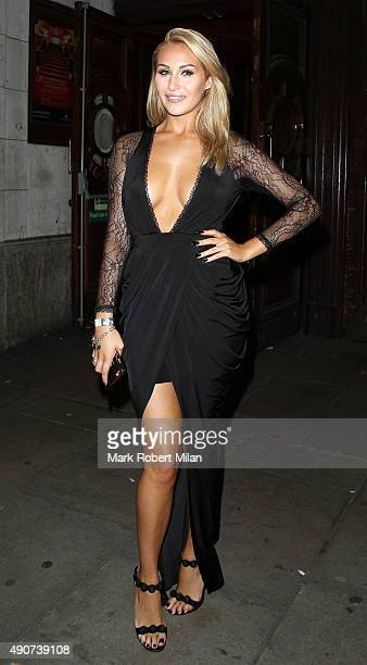 Chloe Goodman at the Reality TV awards on September 30 2015 in London England