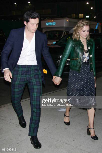 Chloe Grace Moretz and Brooklyn Beckham are seen on November 28 2017 in New York City