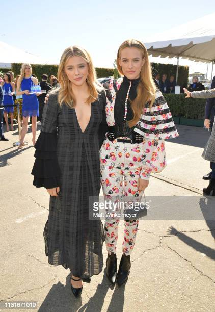 Chloe Grace Moretz and Riley Keough attends the 2019 Film Independent Spirit Awards on February 23 2019 in Santa Monica California