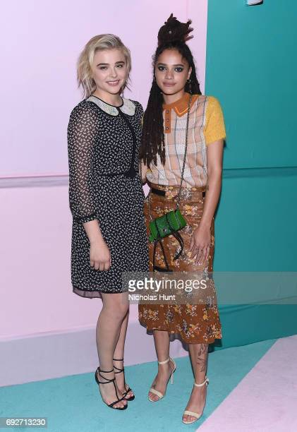 Chloe Grace Moretz and Sasha Lane attend the 2017 CFDA Fashion Awards Cocktail Hour at Hammerstein Ballroom on June 5 2017 in New York City