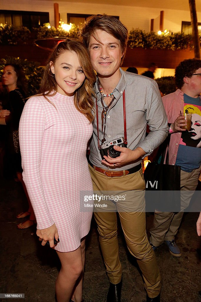 Chloe Grace Moretz (L) and Taylor Hanson attend NYLON and Onitsuka Tiger celebrate the annual May Young Hollywood issue at The Roosevelt Hotel on May 14, 2013 in Hollywood, California.