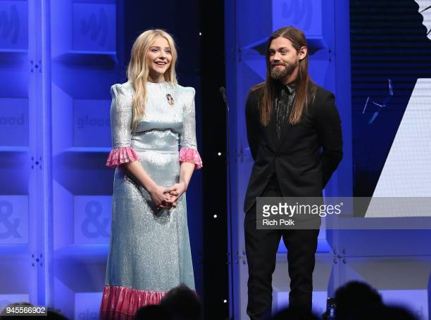 Chloe Grace Moretz and Tom Payne celebrate achievements in LGBTQ community at the 29th Annual GLAAD Media Awards Los Angeles in partnership with...