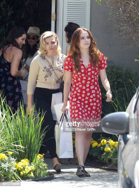 Chloe Grace Moretz and Zoey Deutch are seen on August 13 2017 in Los Angeles California