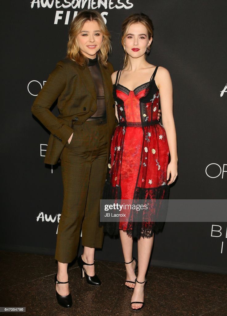 Chloe Grace Moretz and Zoey Deutch attend the premiere of Open Road Films' 'Before I Fall' on March 01, 2017 in Los Angeles, California.