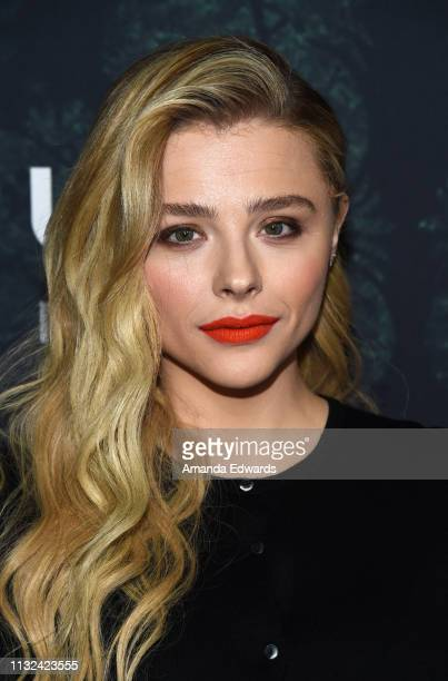 Chloe Grace Moretz arrives at the premiere of Focus Features' Greta at the ArcLight Hollywood on February 26 2019 in Hollywood California