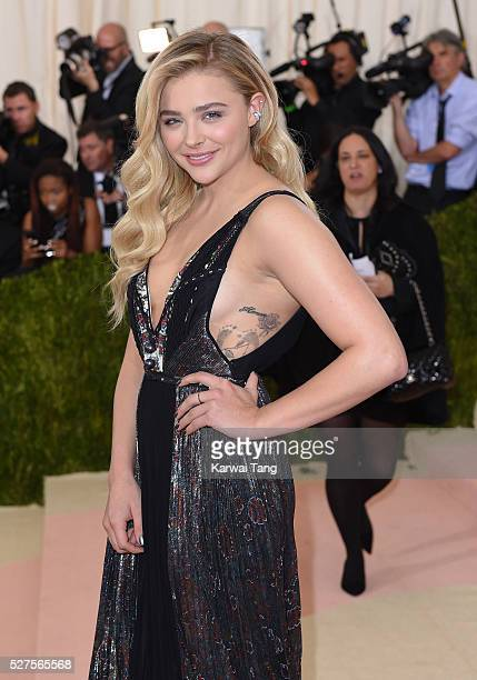 Chloe Grace Moretz arrives for the 'Manus x Machina Fashion In An Age Of Technology' Costume Institute Gala at Metropolitan Museum of Art on May 2...