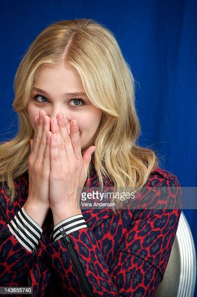 Chloe Grace Moretz at the 'Dark Shadows' Press Conference at SLS Hotel on April 29 2012 in Beverly Hills California