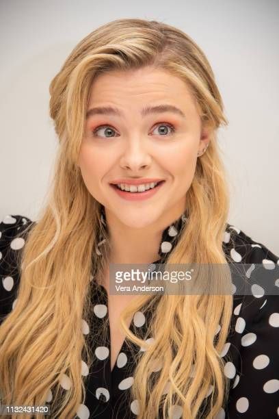 """Chloe Grace Moretz at the """"Greta"""" Press Conference at the Four Seasons Hotel on February 26, 2019 in Beverly Hills, California."""