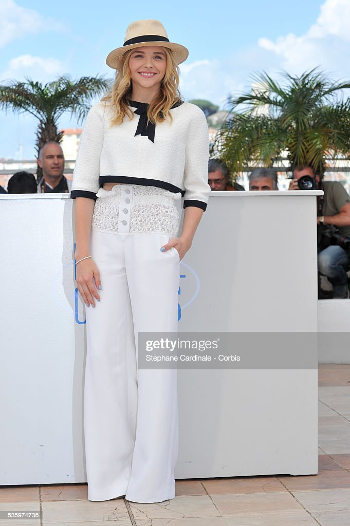 Chloe Grace Moretz attend the 'Clouds Of Sils Maria' photocall during the 67th Cannes Film Festival