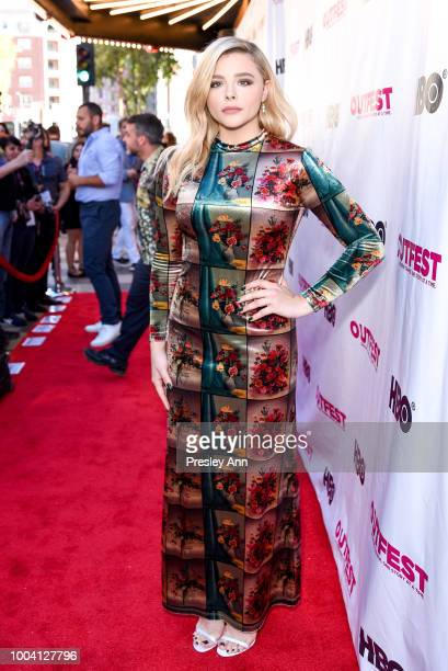 Chloe Grace Moretz attends 2018 Outfest Los Angeles LGBT Film Festival Closing Night Gala Of The Miseducation Of Cameron Post Red Carpet at The...