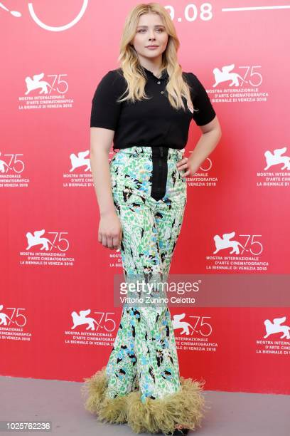 Chloe Grace Moretz attends 'Suspiria' photocall during the 75th Venice Film Festival at Sala Casino on September 1 2018 in Venice Italy