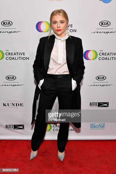 Chloe Grace Moretz attends the 2018 Spotlight Initiative Awards Gala Dinner at Kia Supper Suite on January 21 2018 in Park City Utah