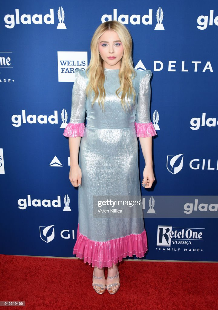 Chloe Grace Moretz attends the 29th Annual GLAAD Media Awards at The Beverly Hilton Hotel on April 12, 2018 in Beverly Hills, California.
