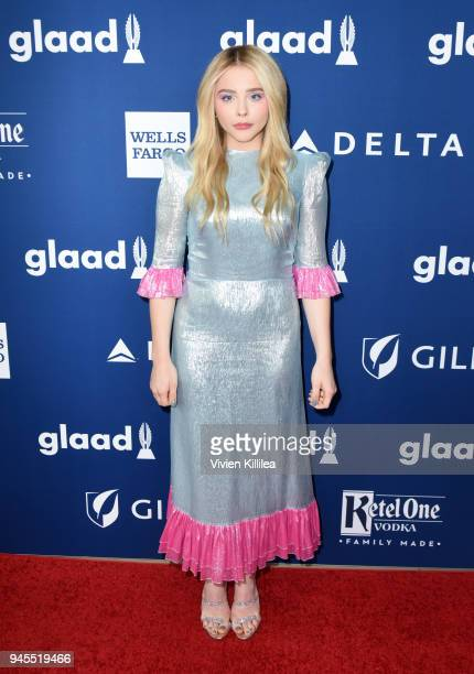 Chloe Grace Moretz attends the 29th Annual GLAAD Media Awards at The Beverly Hilton Hotel on April 12 2018 in Beverly Hills California