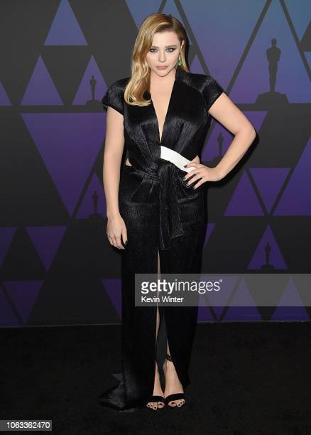 Chloe Grace Moretz attends the Academy of Motion Picture Arts and Sciences' 10th annual Governors Awards at The Ray Dolby Ballroom at Hollywood...