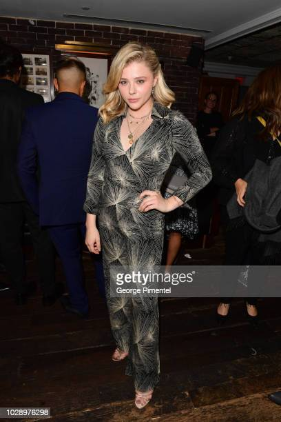 Chloe Grace Moretz attends the Beautiful Boy afterparty hosted by Amazon Studios Hugo Boss during 2018 Toronto International Film Festival at Soho...