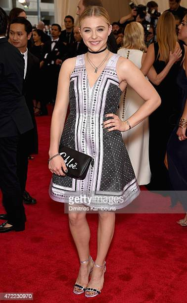 Chloe Grace Moretz attends the 'China Through The Looking Glass' Costume Institute Benefit Gala at the Metropolitan Museum of Art on May 4 2015 in...