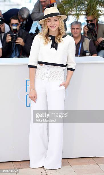 Chloe Grace Moretz attends the Clouds Of Sils Maria photocall at the 67th Annual Cannes Film Festival on May 23 2014 in Cannes France