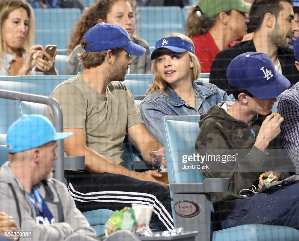 Chloe Grace Moretz attends The Los Angeles Dodgers Game at Dodger Stadium on May 8 2018 in Los Angeles California