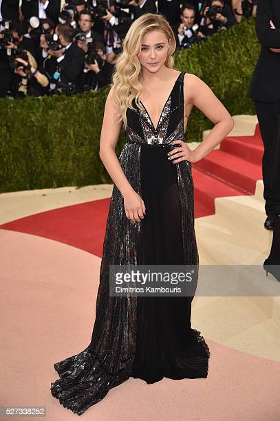 Chloe Grace Moretz attends the 'Manus x Machina Fashion In An Age Of Technology' Costume Institute Gala at Metropolitan Museum of Art on May 2 2016...