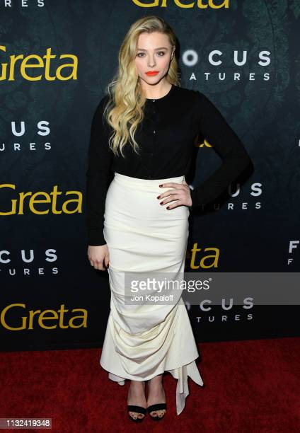 Chloe Grace Moretz attends the premiere of Focus Features' Greta at ArcLight Hollywood on February 26 2019 in Hollywood California