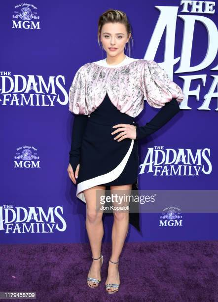 """Chloe Grace Moretz attends the premiere of MGM's """"The Addams Family"""" at Westfield Century City AMC on October 06, 2019 in Los Angeles, California."""