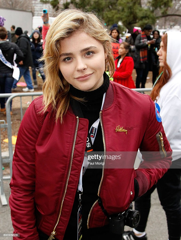Chloe Grace Moretz attends the rally at the Women's March on Washington on January 21, 2017 in Washington, DC.