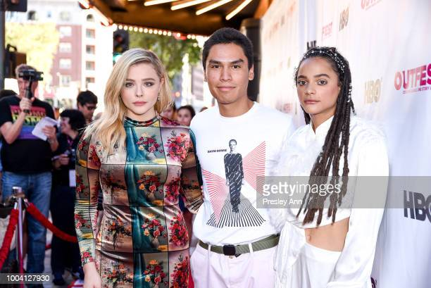 Chloe Grace Moretz Forrest Goodluck and Sasha Lane attend 2018 Outfest Los Angeles LGBT Film Festival Closing Night Gala Of 'The Miseducation Of...