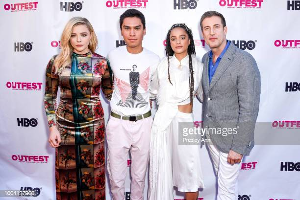Chloe Grace Moretz Forrest Goodluck Sasha Lane and Christopher Racster attend 2018 Outfest Los Angeles LGBT Film Festival Closing Night Gala Of 'The...