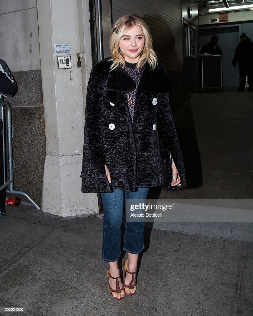 Chloe Grace Moretz is seen at Huff Post Live on January 5, 2016 in New York City.