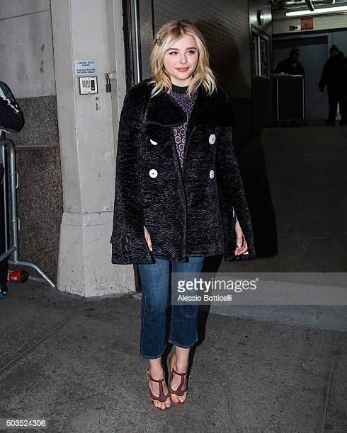 Chloe Grace Moretz is seen at Huff Post Live on January 5 2016 in New York City