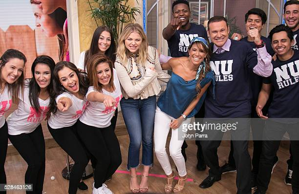 Chloe Grace Moretz is seen on the set of Univision's 'Despierta America' to promote the film 'Neighbors 2 Sorority Rising' at Univision Studios on...