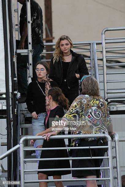Chloe Grace Moretz Kaitlyn Dever and Ella Purnell are seen on Jimmy Kimmel Live on October 3 2016 in Los Angeles California
