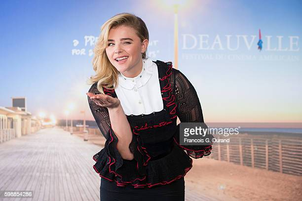 Chloe Grace Moretz poses at a photocall during the 42nd Deauville American Film Festival on September 3 2016 in Deauville France