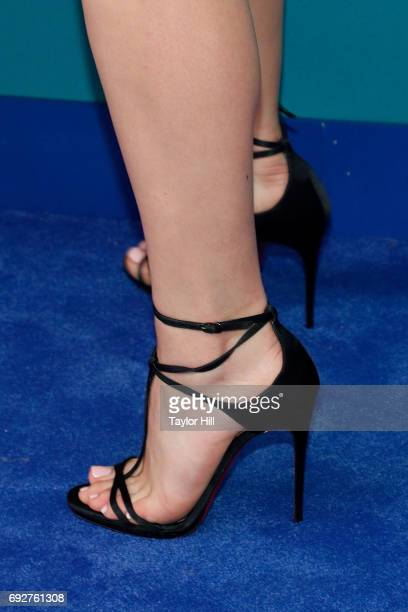 Chloe Grace Moretz shoe detail attends the 2017 CFDA Fashion Awards at Hammerstein Ballroom on June 5 2017 in New York City