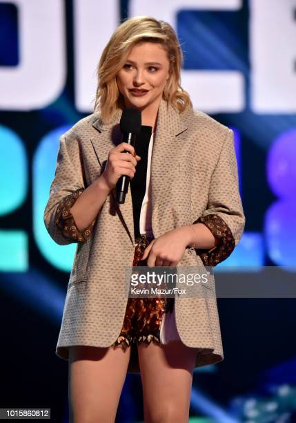 Chloe Grace Moretz speaks onstage ar FOX's Teen Choice Awards at The Forum on August 12 2018 in Inglewood California