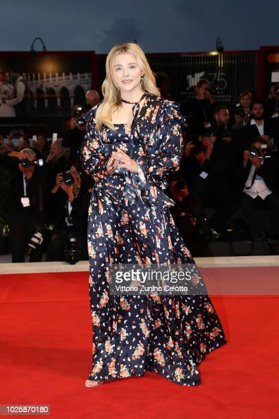 Chloe Grace Moretz walks the red carpet ahead of the 'Suspiria' screening during the 75th Venice Film Festival at Sala Grande on September 1 2018 in...