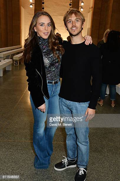 Chloe Green and Brandon Green attend the Topshop Unique at The Tate Britain on February 21 2016 in London England