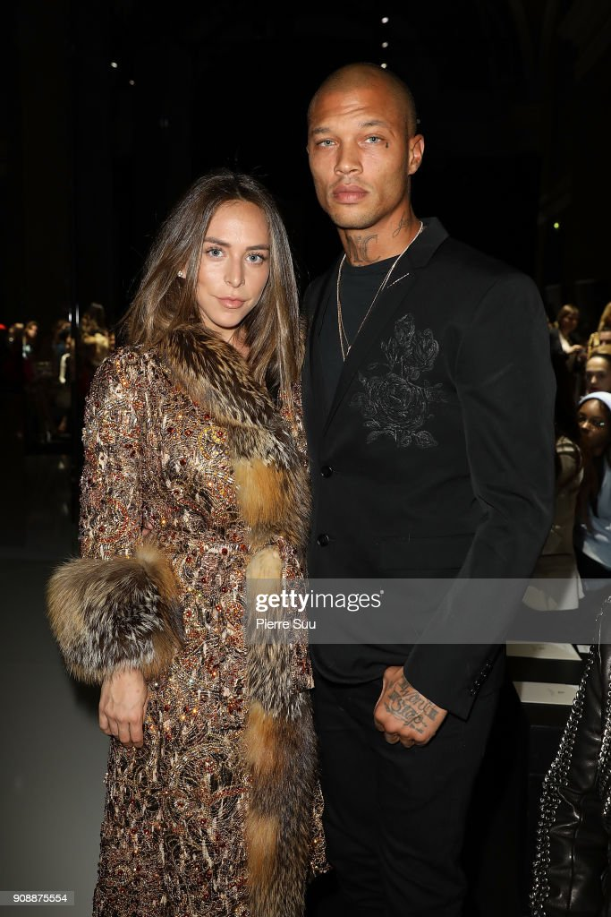 Chloe Green and Jeremy Meeks attend the Ralph & Russo Haute Couture Spring Summer 2018 show as part of Paris Fashion Week on January 22, 2018 in Paris, France.