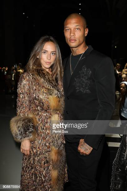 Chloe Green and Jeremy Meeks attend the Ralph Russo Haute Couture Spring Summer 2018 show as part of Paris Fashion Week on January 22 2018 in Paris...