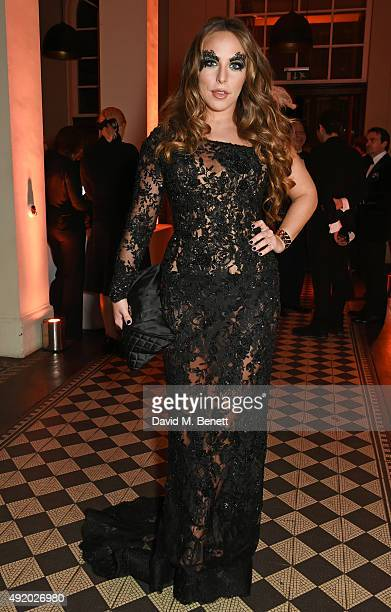 Chloe Green attends Eva Cavalli's birthday dinner party at One Mayfair on October 9 2015 in London England