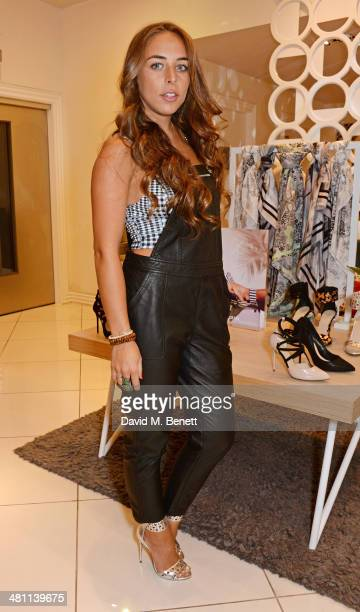 Chloe Green attends the launch of the 'CJG' collection by Chloe Green at TopShop Oxford Circus on March 28 2014 in London England