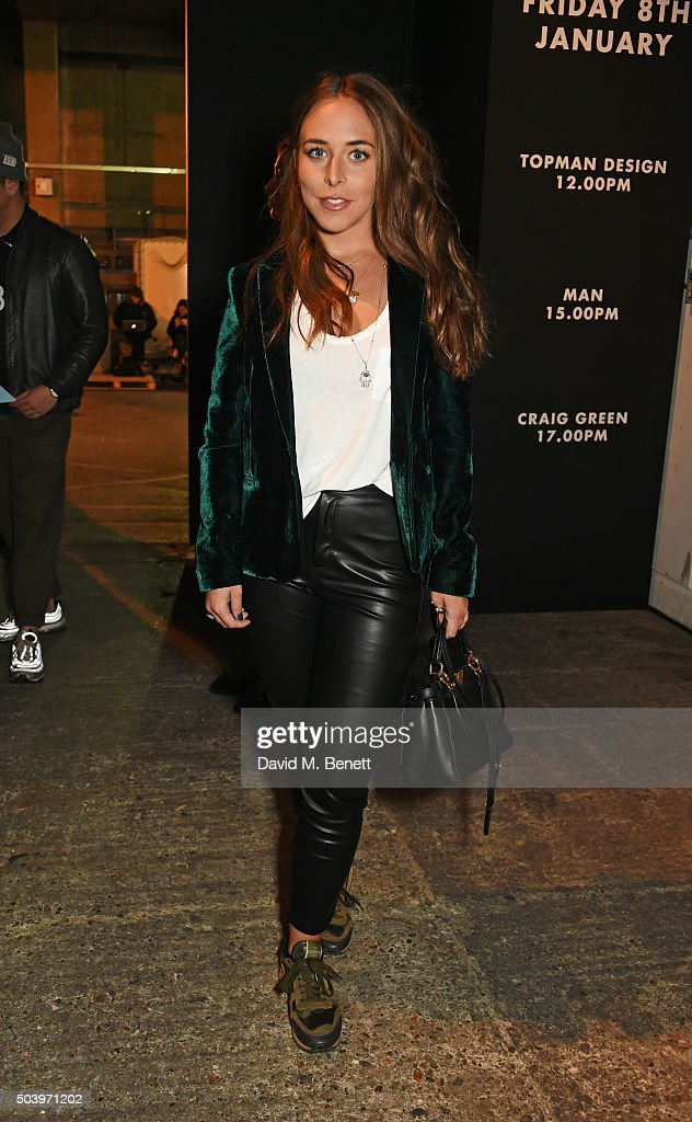 Chloe Green attends the TOPMAN Design Front Row during London Collections: Men AW16 at Topman Show Space on January 8, 2016 in London, England.