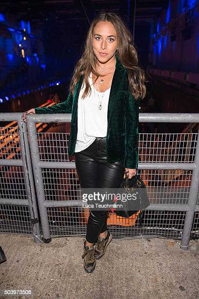 Chloe Green attends the TOPMAN Design Front Row during The London Collections Men AW16 at on January 8 2016 in London England
