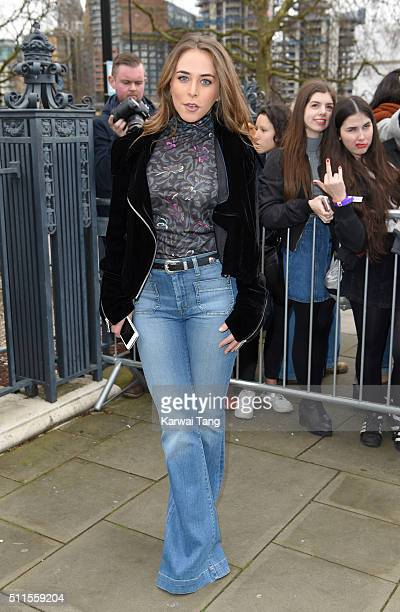 Chloe Green attends the Topshop Unique show during London Fashion Week Autumn/Winter 2016/17 at Tate Britain on February 21 2016 in London England